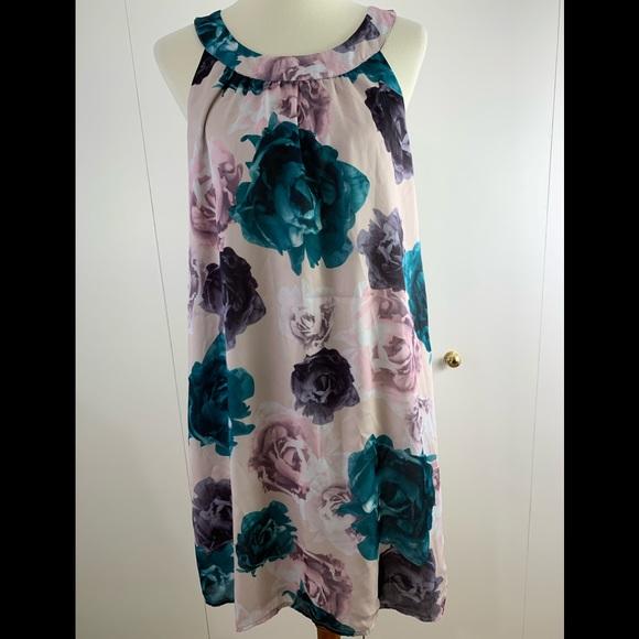 H&M Dresses & Skirts - H & M 14 dress sundress green purple floral